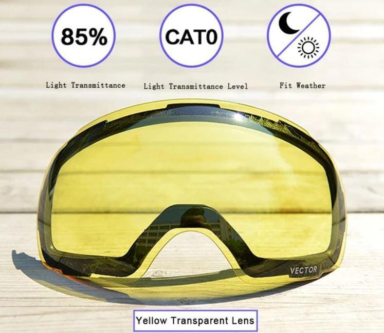 Змінна лінза для гірськолижної маски VECTOR UV-400 на магнітних кріпленнях (модель 2018г.)