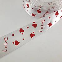 Лента Love белая 25мм, фото 1