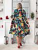 Платье с юбкой клёш длина миди Глубокое V-образное декольте фасона «на запах» / 2 цвета арт 8483-304, фото 2