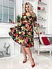 Платье с юбкой клёш длина миди Глубокое V-образное декольте фасона «на запах» / 2 цвета арт 8483-304, фото 8