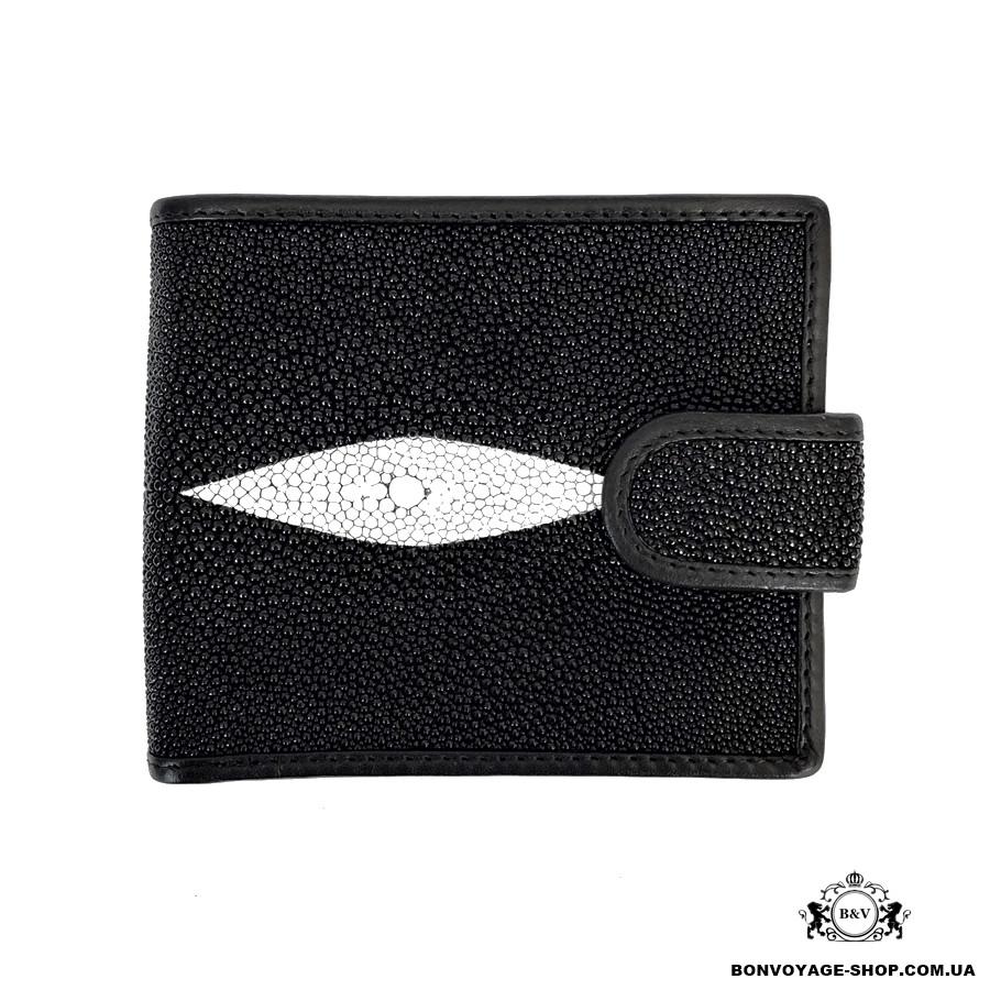 0991e43b35a6 Мужской кошелек из кожи ската Mosart Stingray 2743 черный - купить ...