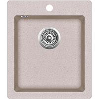 Мойка для кухни гранитная Aquasanita Simplex SQS-100W-110 бежевый