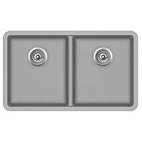 Мойка для кухни гранитная Aquasanita Arca SQA-200W-220 серебро