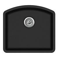 Мойка для кухни гранитная Aquasanita Arca SQA-103W-601 черный металлик
