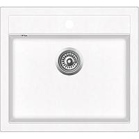 Мойка для кухни гранитная Aquasanita Quadro SQQ-100W-710 белый