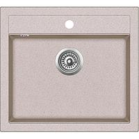 Мойка для кухни гранитная Aquasanita Quadro SQQ-100W-110 бежевый