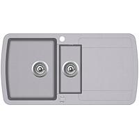 Кухонная мойка гранитная AquaSanita Lira SQL-101AW-202 алюметалик