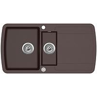 Кухонная мойка гранитная AquaSanita Lira SQL-151AW-120 коричневый