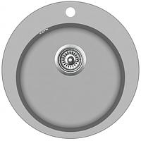 Кухонная мойка гранитная AquaSanita Clarus SR-100-220 серебро