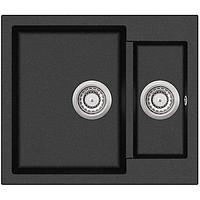 Кухонная мойка гранитная AquaSanita Tesa SQT-150-601 черный металлик