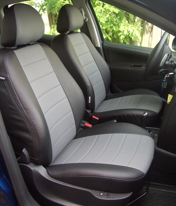 Чехлы на сиденья Шевроле Авео Т200 (Chevrolet Aveo T200) (модельные, экокожа, отдельный подголовник)