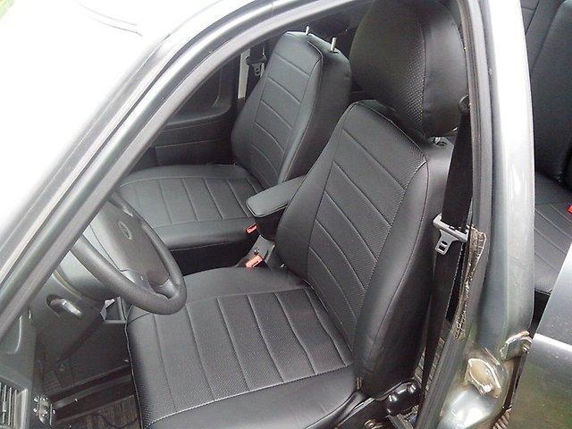 Чехлы на сиденья Ситроен Берлинго (Citroen Berlingo) (1+1, модельные, экокожа, отдельный подголовник)