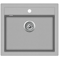 Кухонная мойка гранитная AquaSanita Quadro SQQ-100-220 серебро