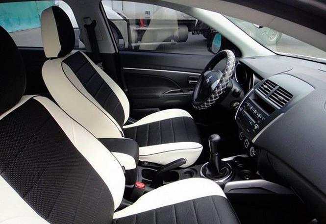 Чехлы на сиденья Джили Эмгранд ЕС8 (Geely Emgrand EC8) (модельные, экокожа, отдельный подголовник)