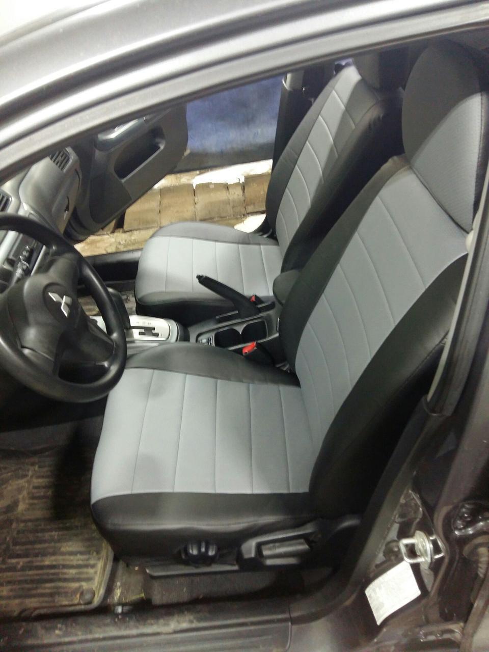 Чехлы на сиденья Хонда ФРВ (Honda FR-V) (модельные, экокожа, отдельный подголовник)