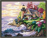 Картина по номерам 40*50 -  Будинок біля маяка