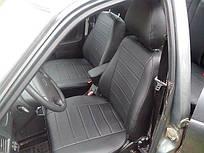 Чехлы на сиденья Ниссан Примастар Ван (Nissan Primastar Van) 1+1 (модельные, экокожа, отдельный подголовник, кант)