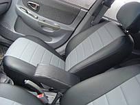Чехлы на сиденья Ниссан Примастар Ван (Nissan Primastar Van) 1+2 (модельные, экокожа, отдельный подголовник, кант)