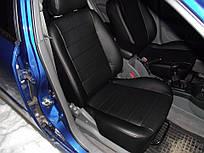 Чехлы на сиденья Опель Омега Б (Opel Omega B) (модельные, экокожа, отдельный подголовник)