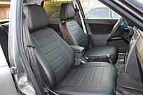 Чехлы на сиденья Опель Виваро (Opel Vivaro) 1+1  (модельные, экокожа, отдельный подголовник)