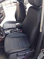 Чехлы на сиденья Рено Клио (Renault Clio) 2002 - ... г (модельные, экокожа, отдельный подголовник)