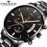 Годинники наручні Fngeen Fenz 5055 чорний ремінець Число Флуоресцентні Водонепроникні, фото 1