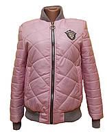 b9ceb617065 Куртка-бомбер женская стеганная демисезонная