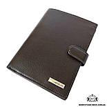 Мужское портмоне для водительских документов кожаное коричневое Karya 0914-39, фото 2