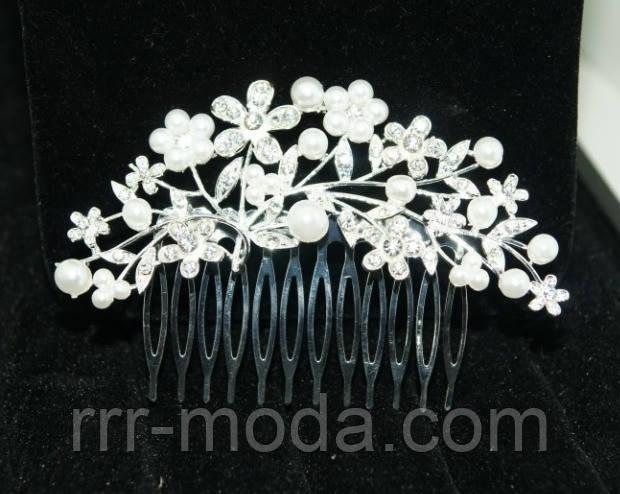 гребешки для волос с жемчугом, свадебная бижутерия фото