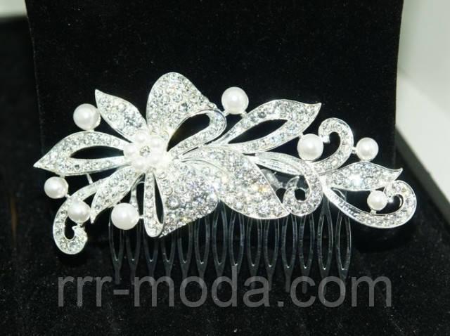 свадебный гребень, гребешки для волос в стразах, свадебная бижутерия фото
