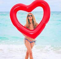 Надувной круг Modarina Сердце 120 см Красный (PF3387) , фото 1