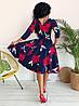 Стильное платьес карманами, яркий принт  арт 8495-304, фото 3