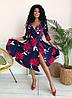 Стильное платьес карманами, яркий принт  арт 8495-304, фото 4