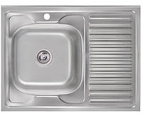 Кухонная мойка 0,6 мм Imperial 6080L(06) Satin нержавеющая сталь + СИФОН