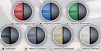 Чехлы на сиденья Тойота Аурис (Toyota Auris) (модельные, экокожа, отдельный подголовник) черно-зеленый