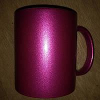 Печать фото на чашке перламутровая