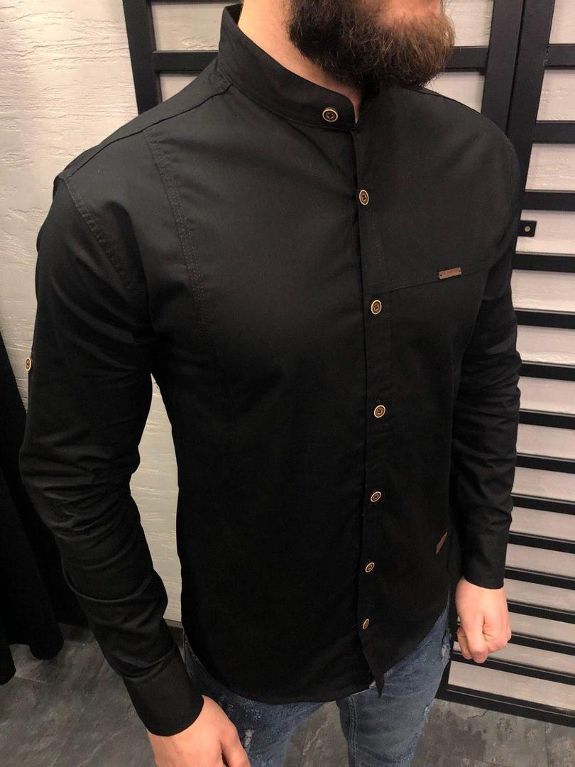 23a9930553e Мужская черная рубашка  0134
