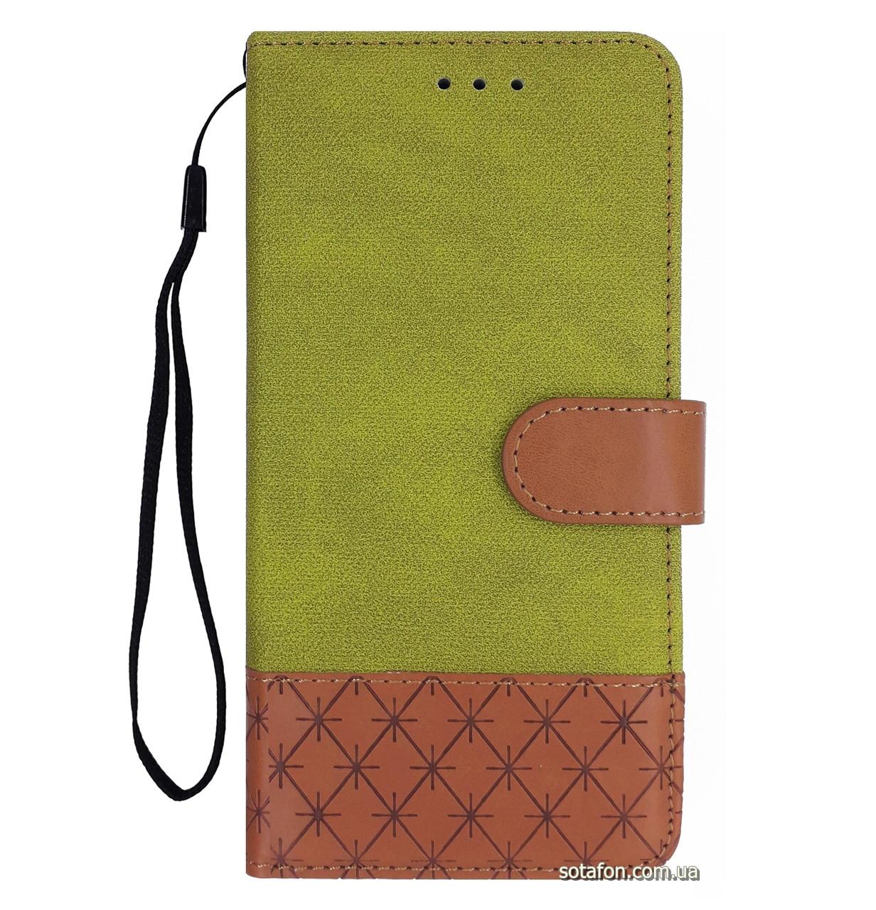 Чехол-книжка Diary c TPU креплением и функцией подставки для Samsung Galaxy J3 (2017) SM-J330F Lime Green