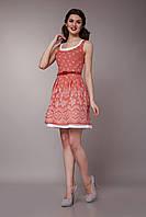 Платье женское с двойной юбкой цвета пепельной розы