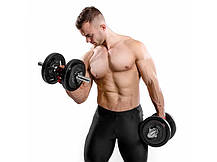 Гантеля металлическая Hop-Sport Strong 1 х 15 кг, фото 3