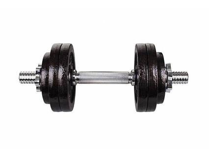 Гантеля металлическая Hop-Sport Strong 1 х 15 кг, фото 2