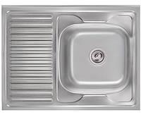 Кухонная мойка Imperial 5080R Satin нержавеющая сталь 0,8мм + СИФОН