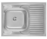 Кухонная мойка Imperial 5080L Satin нержавеющая сталь 0,8мм + СИФОН