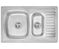 Кухонная мойка Imperial 7850 Satin двойная нержавеющая сталь 0,8мм + СИФОН
