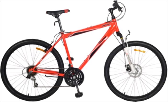 Одноподвесной горный велосипед 27.5 дюймов VOODOO красный зеленый