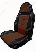 Чехлы на сиденья ВАЗ Лада 2111/2112 (VAZ Lada 2111/2112) (модельные, экокожа, пилот)