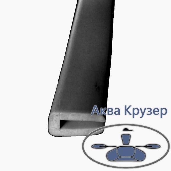 Окантовочный профиль; 4 мм, материал пвх черный -  п образный профиль