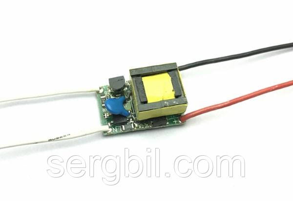 LED драйвер 3Вт 300мА 9-12В, питание 220В диммируемый