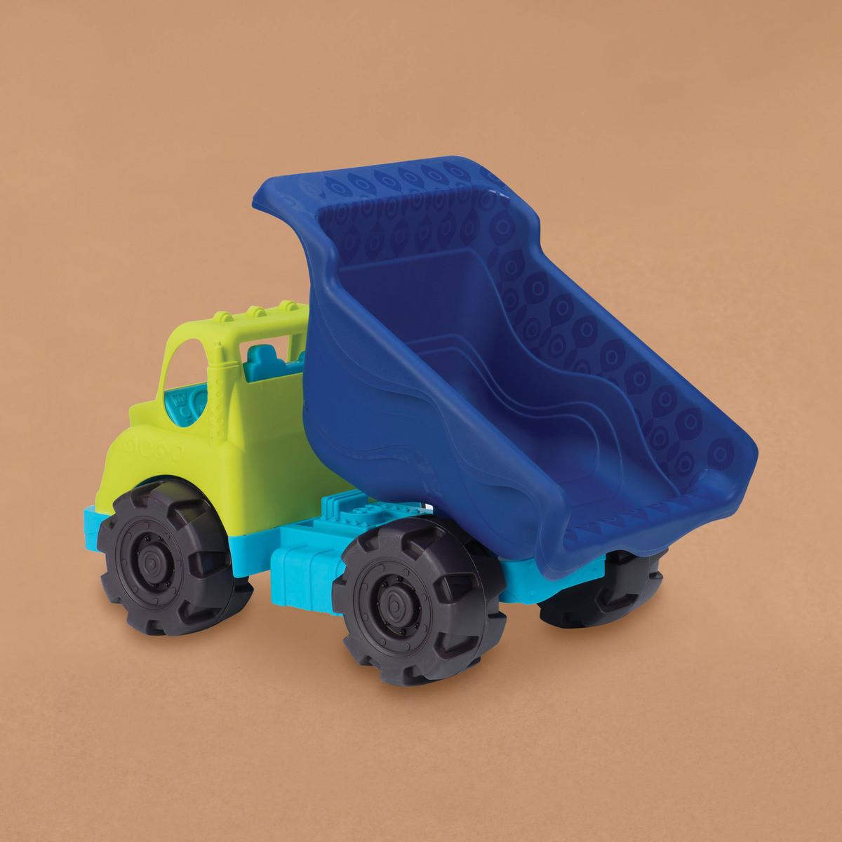 Игрушка для игры с песком - МЕГАСАМОСВАЛ (цвет лаймовый-океан)