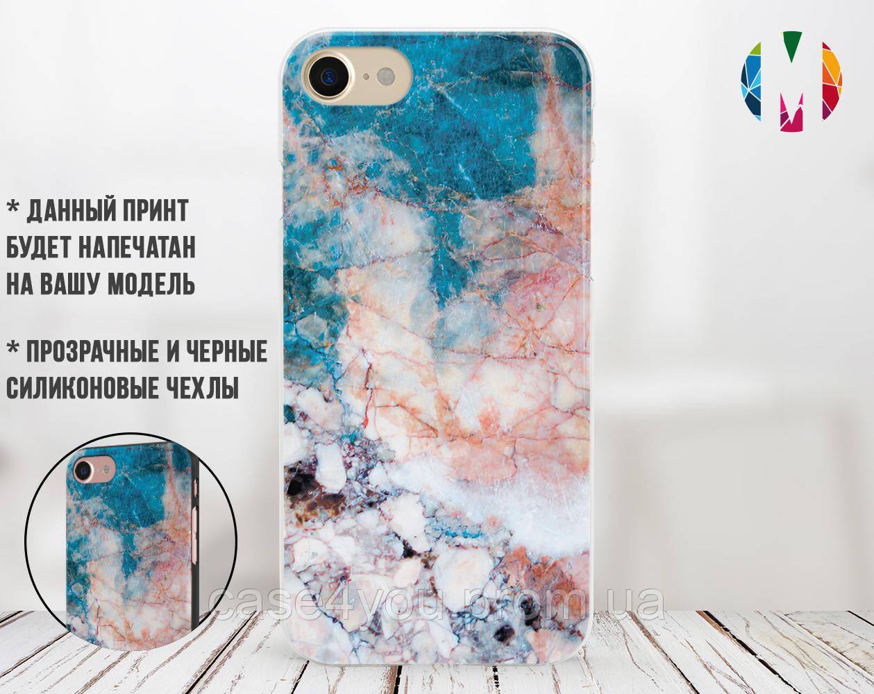 Силиконовый чехол для Apple Iphone 8 plus (Морской мрамор)